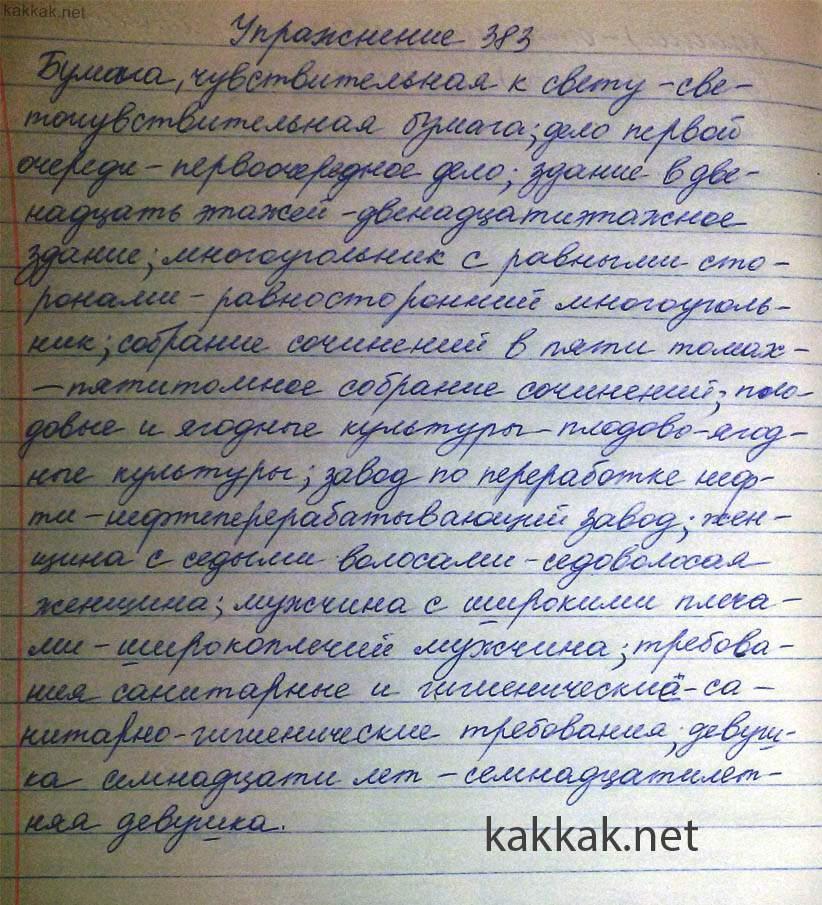 Гдз по русскому 6 Класс Упр 383